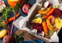 Warzywa sezonowe przygotowane do pieczenia